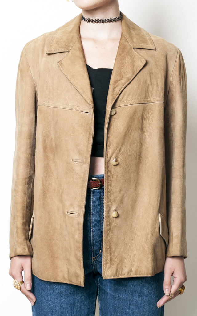 70s vintage suede leather jacket by Pop Sick Vintage