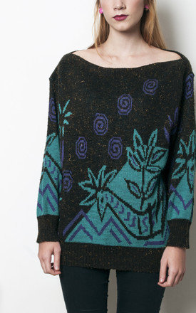 80s vintage crazy giraffe swirl psychedelic knit jumper by Pop Sick Vintage