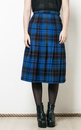 80s vintage grunge plaid wool skirt by Pop Sick Vintage