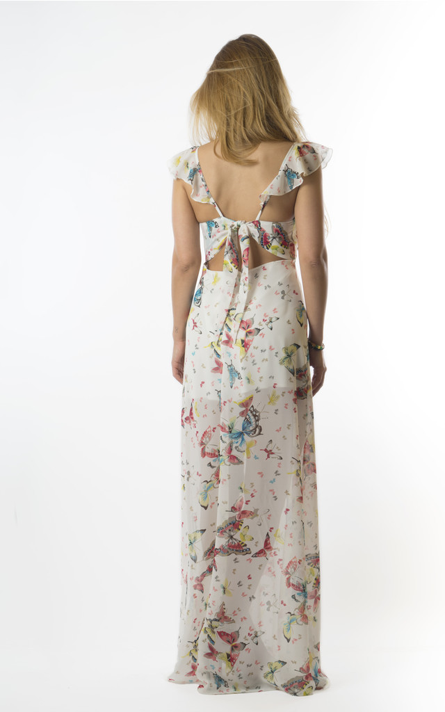 Adele maxi butterfly-print dress by VeryGirly