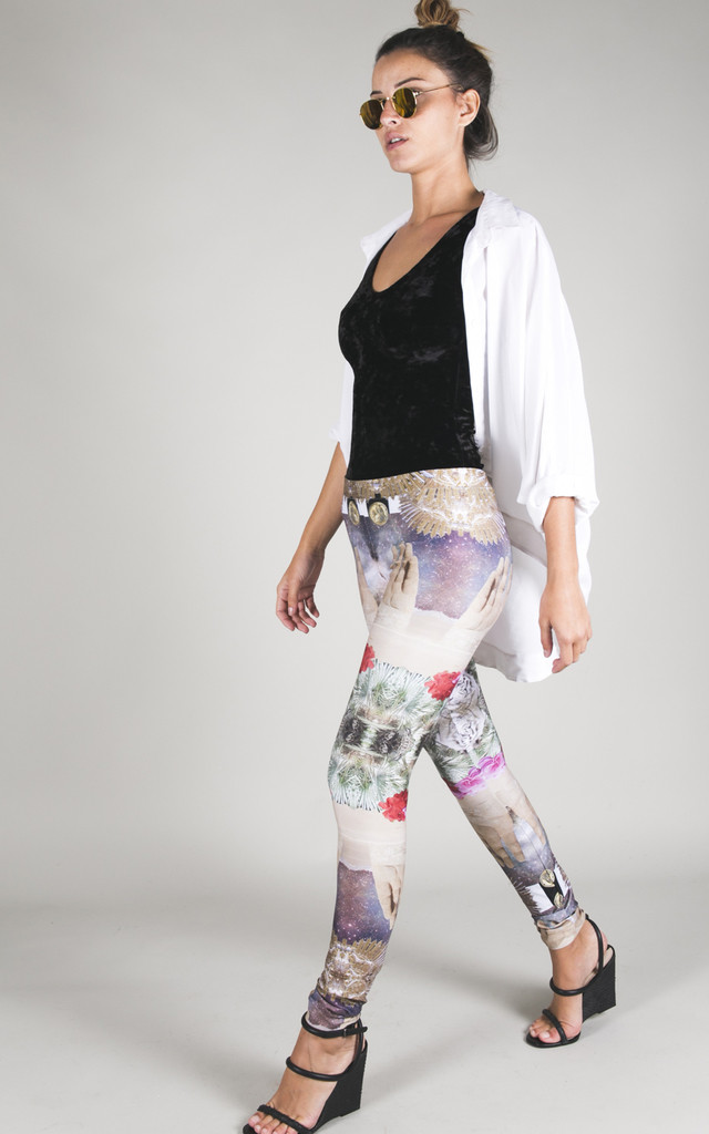 Legging Pants - Atacama Desert by ELEYTE