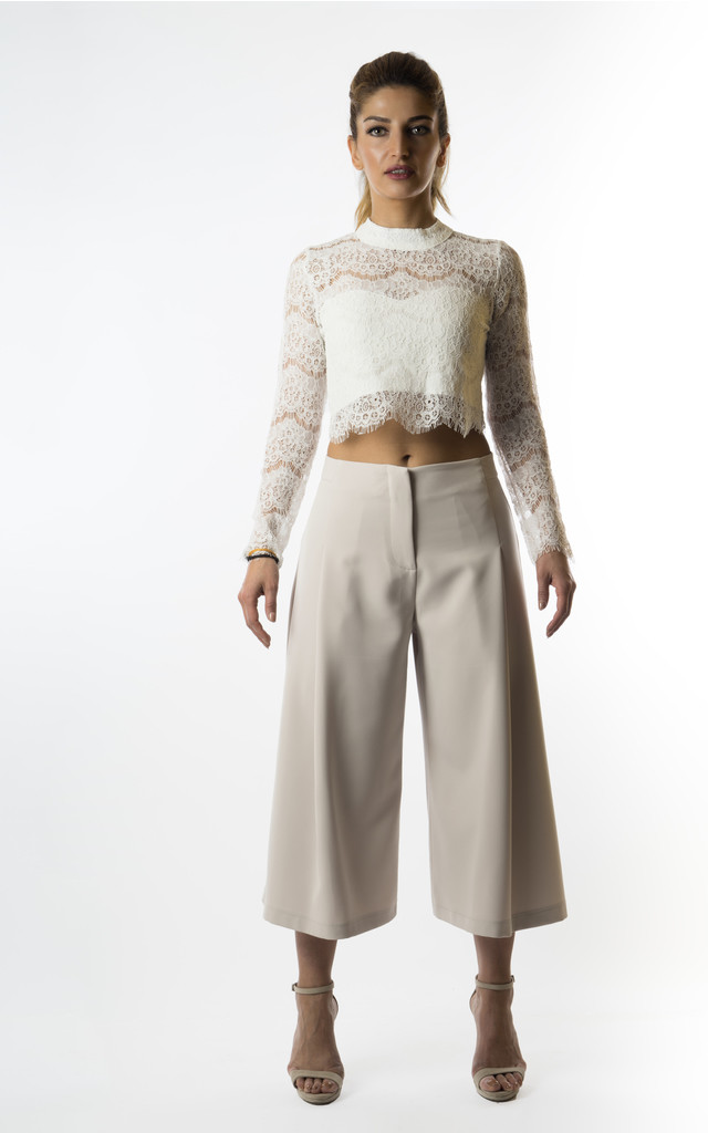 Pantea pleated wide leg trousers by VeryGirly