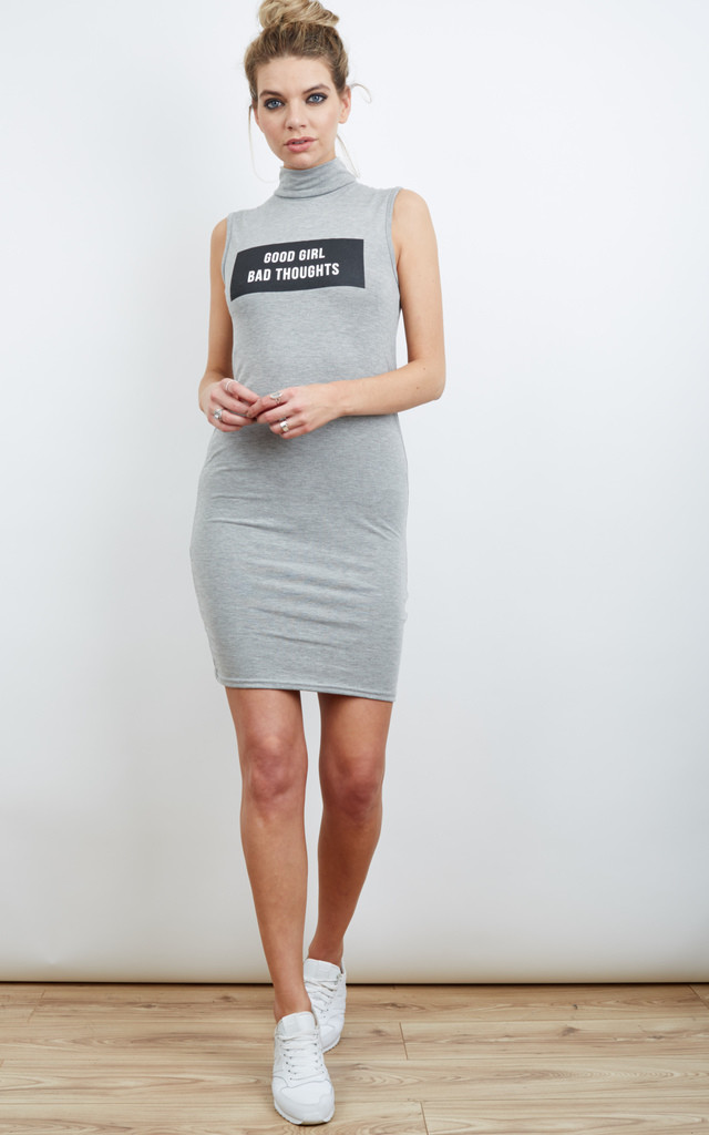 Good Girl Bad Thoughts Tank Dress by Adolescent Clothing