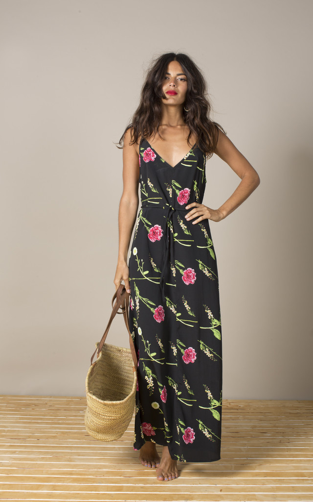 Giselle Maxi in Carnation and Daisy Print image
