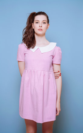 Wes Anderson Suzy Pink Collared Smock Moonrise Kingdom by Vintage Style Me