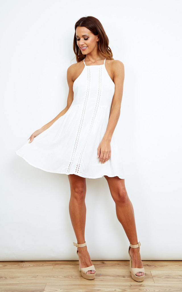 White Swing Dress - SilkFred