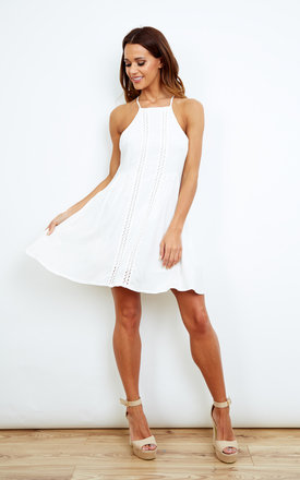 White Swing Dress by Kiss The Sky Product photo