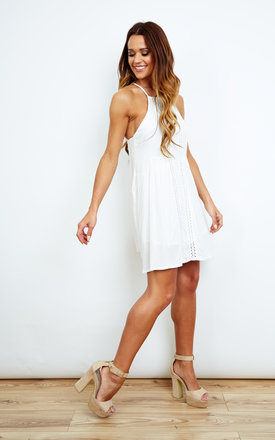 White Swing Dress by Kiss The Sky