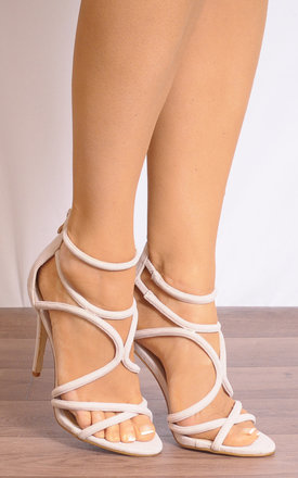 Nude Stilettos Strappy Sandals High Heels by Shoe Closet