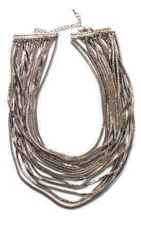 The Silver Waterfall Statement Necklace by Collections by Hayley