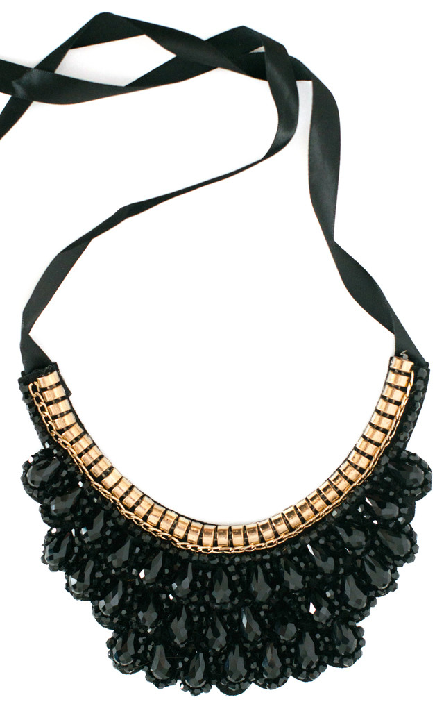 The Jet Statement Necklace by Collections by Hayley