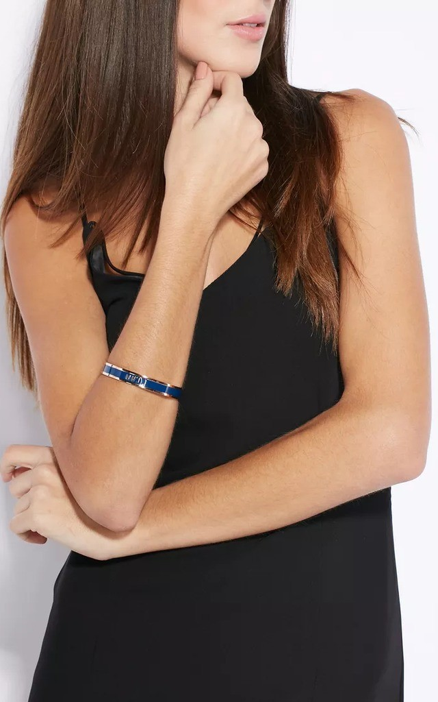 'NW1' London Postcode Bangle in Navy by Florence London