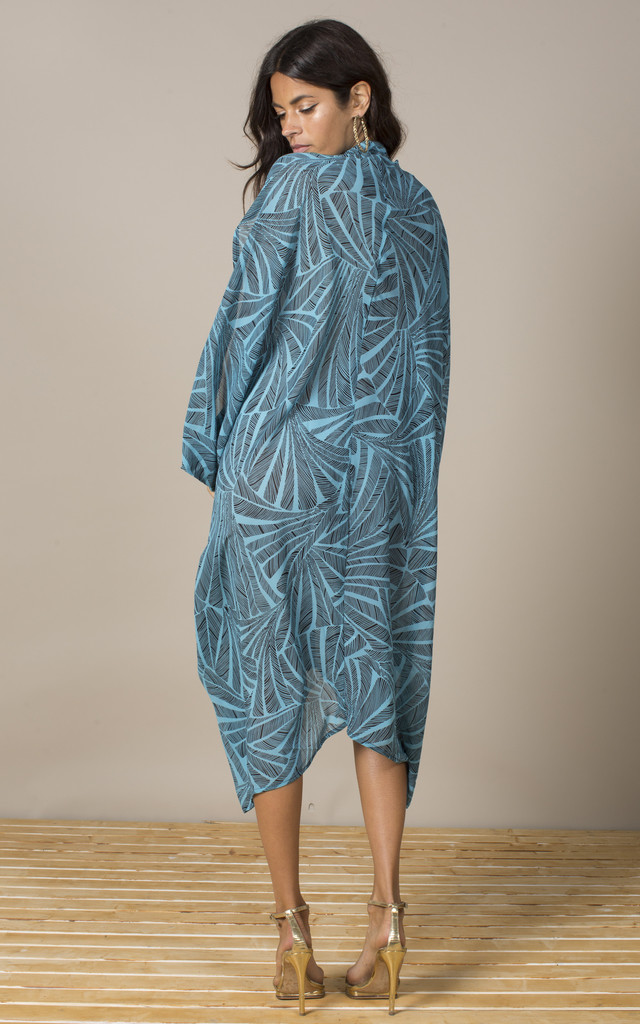Cruz Poncho in Blue Palm image