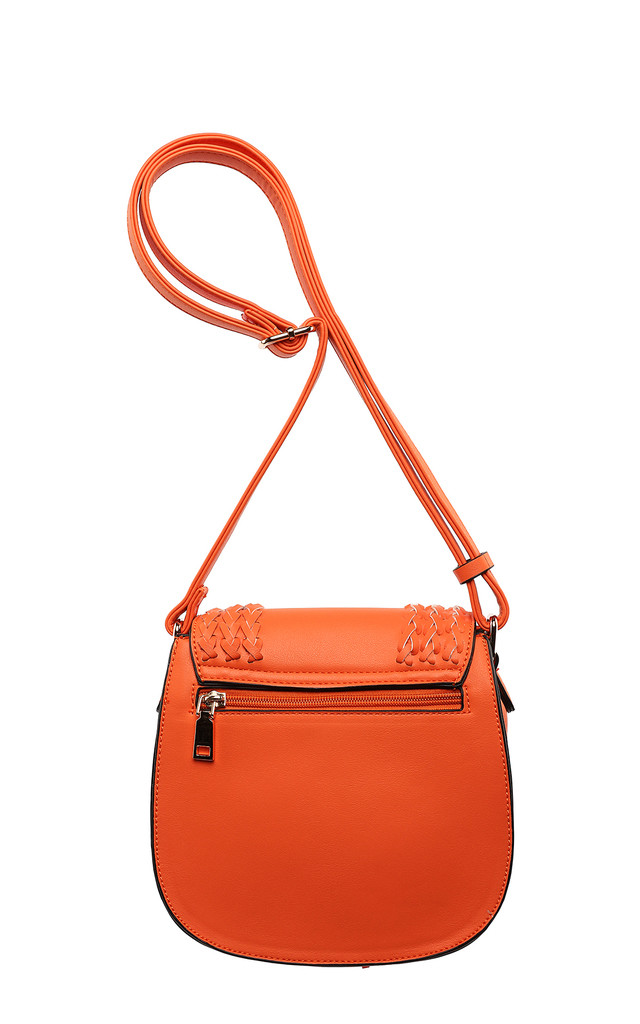 Orange Braided Shoulder Bag by Jezzelle