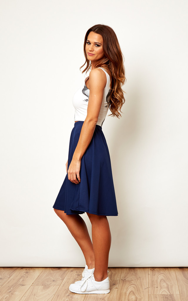 Mesh Skater Skirt in Blue by We Are Still Bold and Beautiful