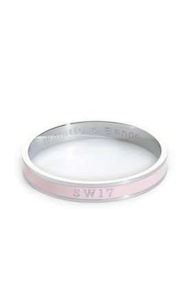 'SW17' London Postcode Bangle in Light Pink/Silver by Florence London