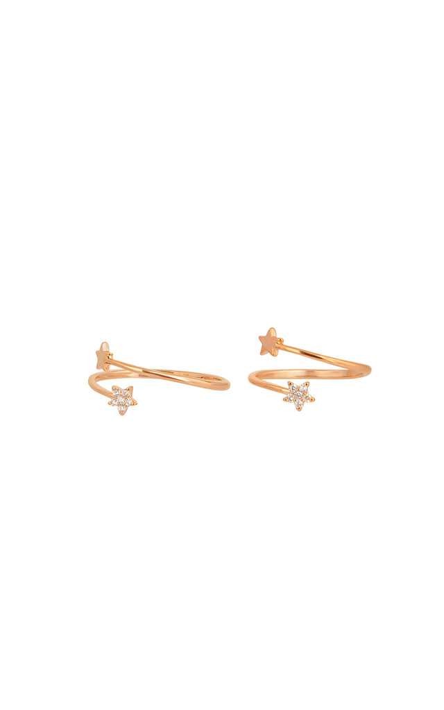 Tiny Star Rings Set In Rose Gold by DOSE of ROSE