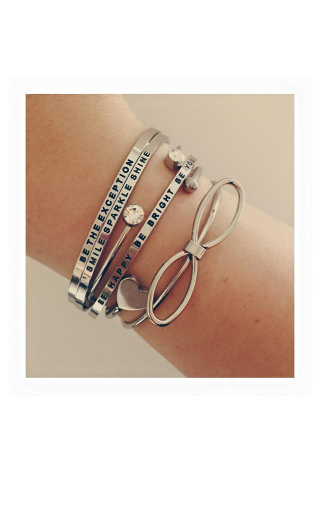 Be Happy Be Bright Be You Bangle by Blondie Rocks