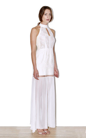 Halteneck White Lace dress by Cristina Adami