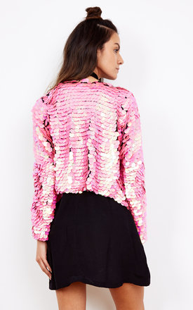 Show Pony Sequin Jacket in Pink by Indigo East