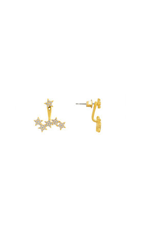 Starburst Two Way Earrings In Gold by DOSE of ROSE Product photo