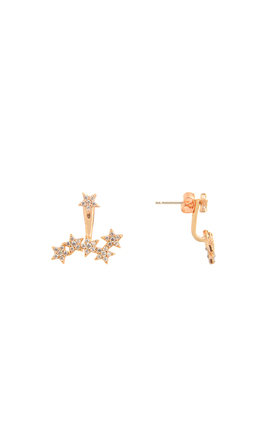 Starburst Two Way Earrings In Rose Gold by DOSE of ROSE Product photo