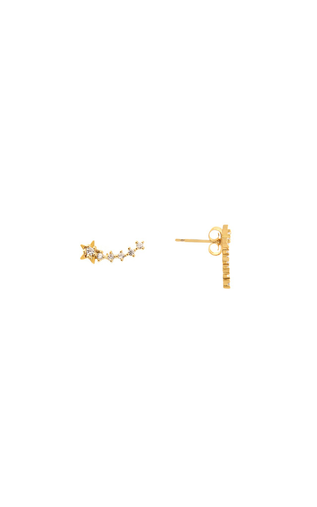 Shooting Star Stud Earrings In Gold by DOSE of ROSE