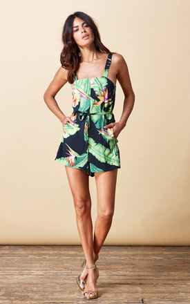 Souza Playsuit in Banana Leaf by Dancing Leopard