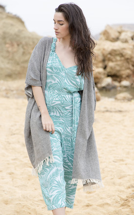 Textured Cotton Kimono Kaftan by likemary