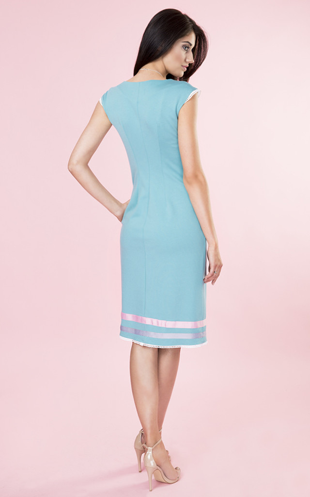 SIMPLY PASTEL DRESS WITH STRIPES by KASIA MICIAK
