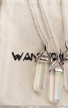 Pearlescent Crystal Necklace by Wanderdusk