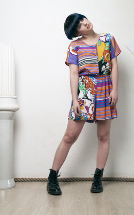 90s vintage crazy printed summer playsuit by Pop Sick Vintage