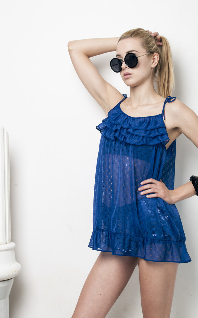 70s vintage frill slip dress by Pop Sick Vintage