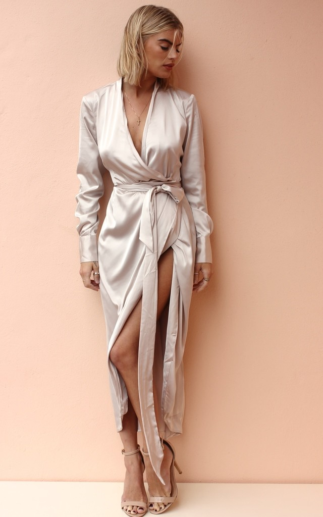Maxi Satin Oyster by Never Fully Dressed
