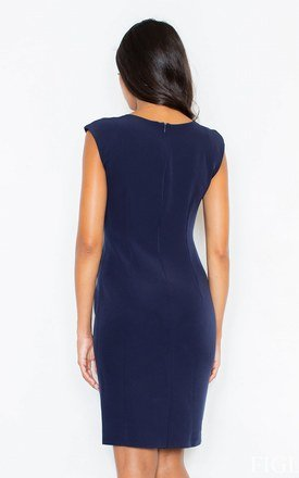 Navy blue classic dress by FIGL