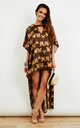 Brown Batik Marbella Kaftan by ILL DISCIPLINED