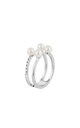 Pearl With Cubic Ring In White Gold by DOSE of ROSE