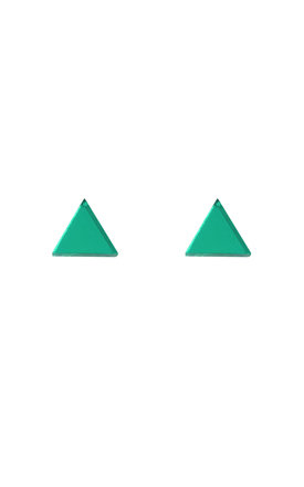 Triangle Acrylic Stud Earrings in Green by Wolf & Moon