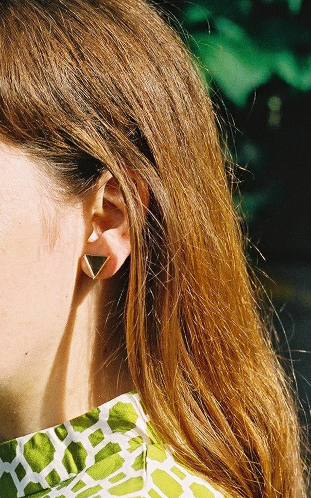 Triangle Studs - Teal by Wolf & Moon