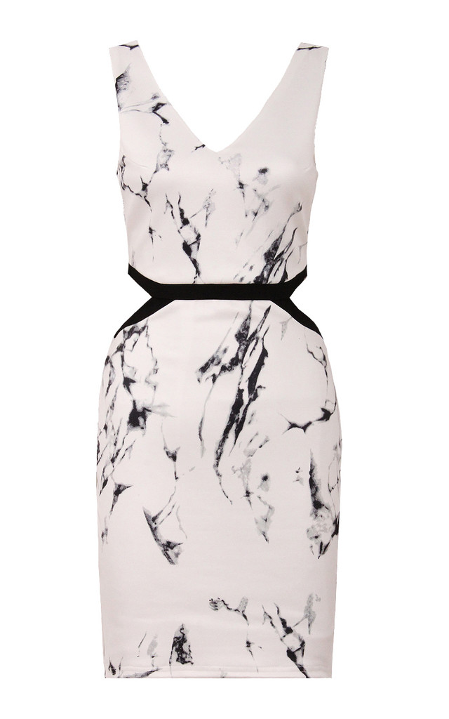 Marble Print Bodycon Dress by Jezzelle