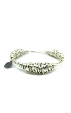 Silver Wire Bangle by Black and Sigi Limited