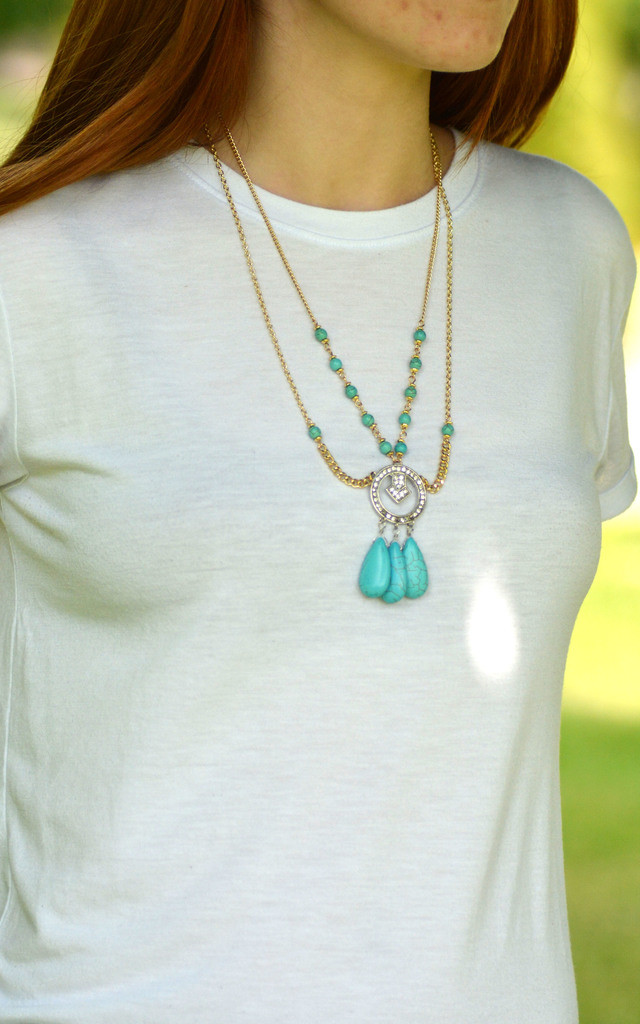 Chunky Turquoise Necklace by Silver Rain