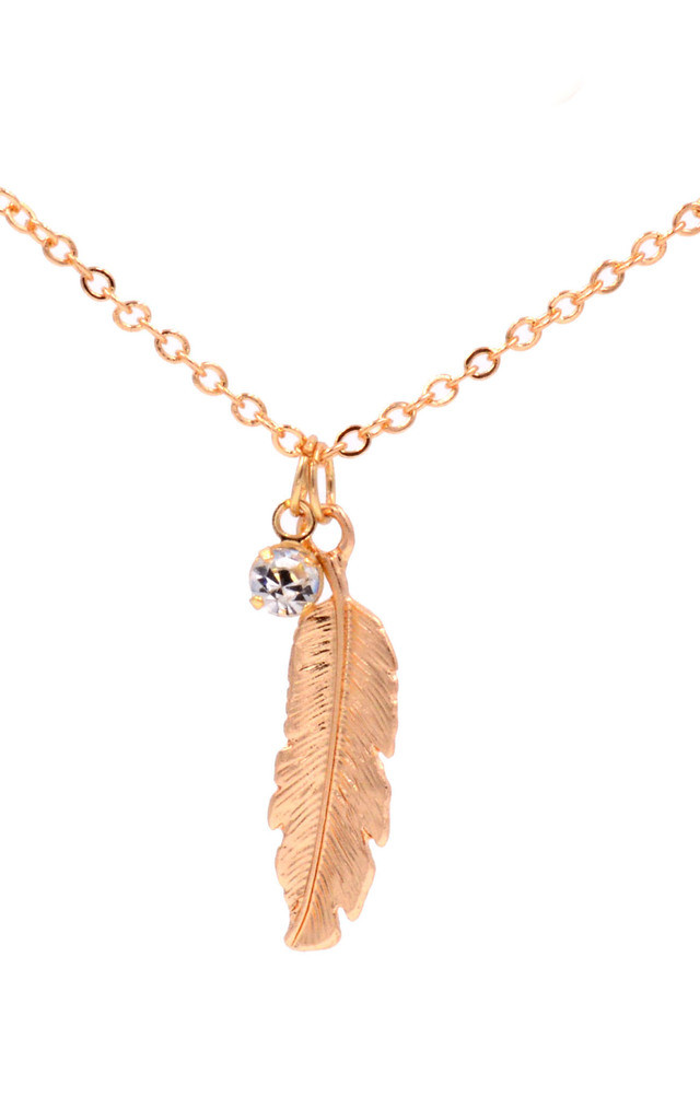 Light as Feather Dainty Necklace - Gold by Silver Rain