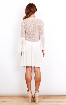 Laced Back and Sleeves Dress by Kiss The Sky