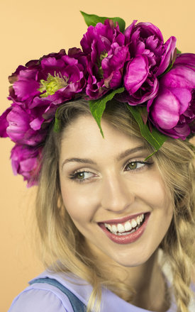 Oversized Peony Crown - Fuchsia by Crown and Glory