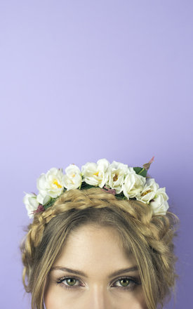Wild Rose Headband - Cream by Crown and Glory