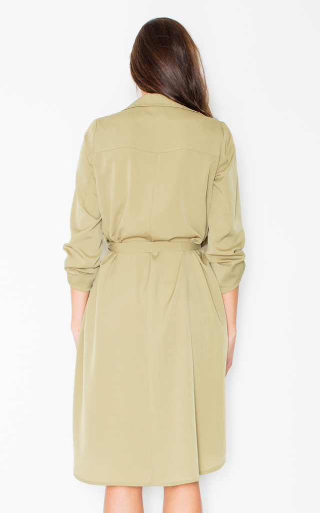 Olive Green waterfall dress by FIGL