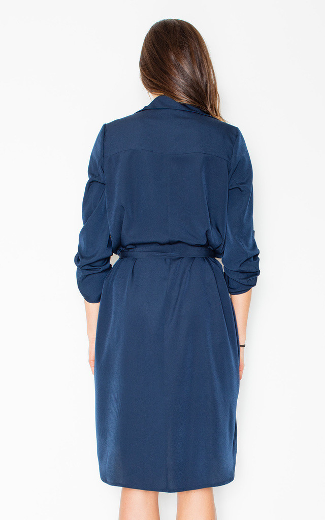 Navy blue waterfall dress by FIGL