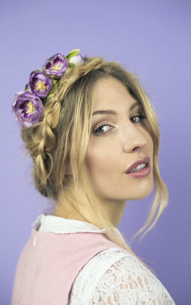 Ranunculus Headband - Dusky Purple by Crown and Glory