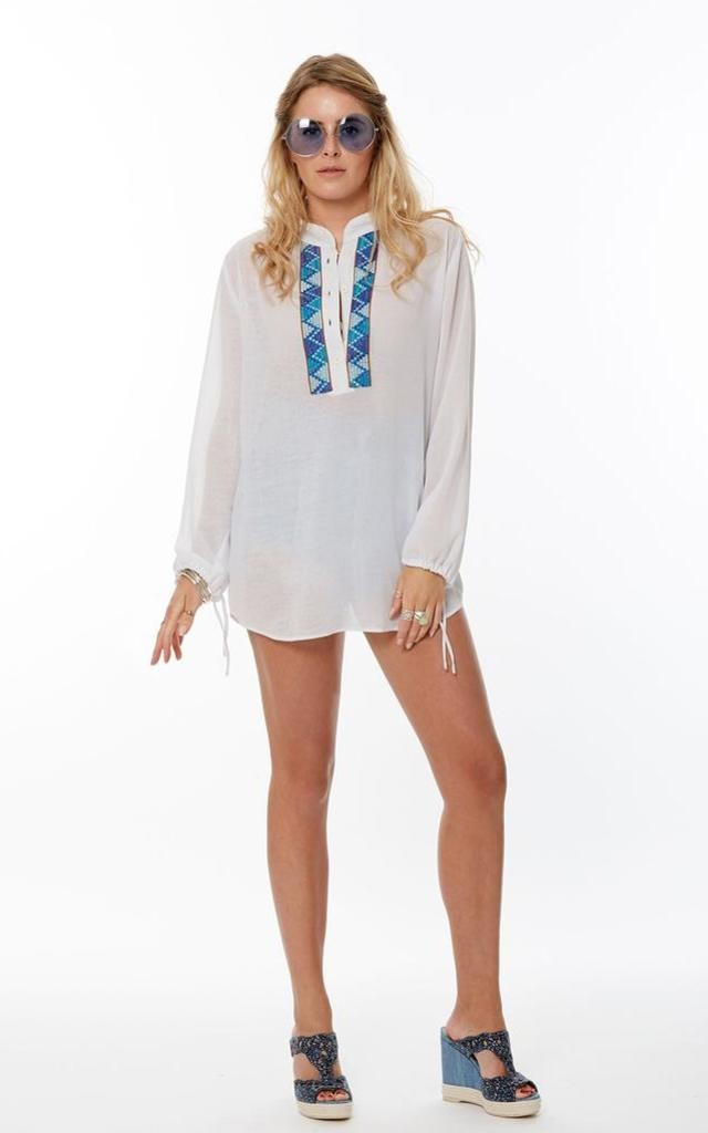 White Bello Sleeve Tunic by Marek & Mason